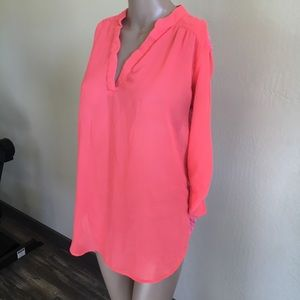 Rue 21 coral lace back top